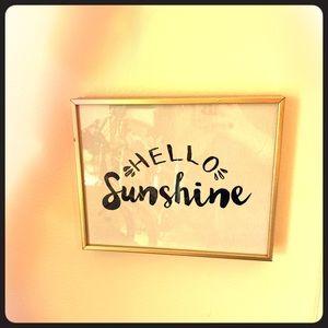 Hello Sunshine Gold frame